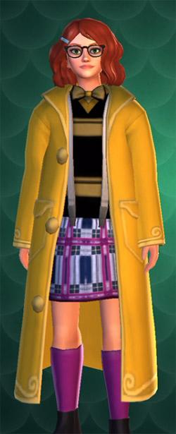 large dark yellow magical coat