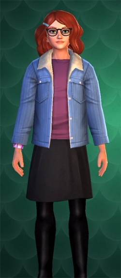 blue jean striped jacket for 2400 coins
