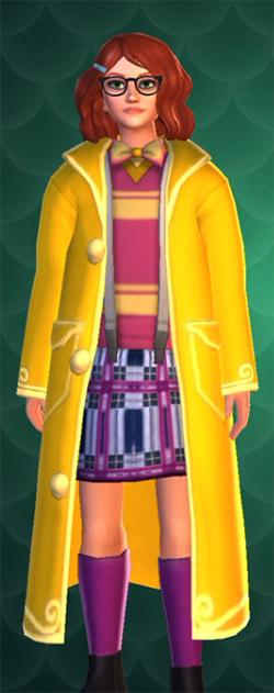 bright yellow large coat hogwarts mystery