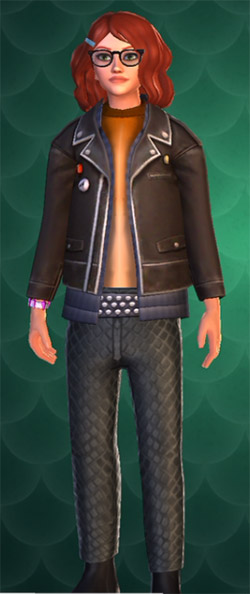 screenshot of some leater scaled rock band style pants