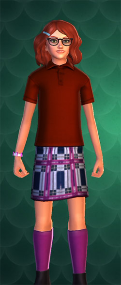 hogwarts mystery purple skirt with socks