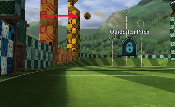 golden snitch quidditch pitch location