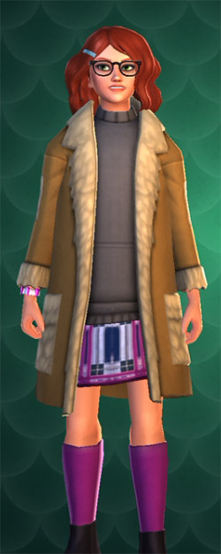 hogwarts mystery tan gem store coat