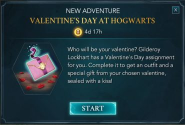valentines day at hogwarts adventure