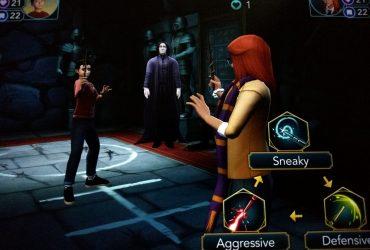 screenshot of duelling club in hogwarts mystery