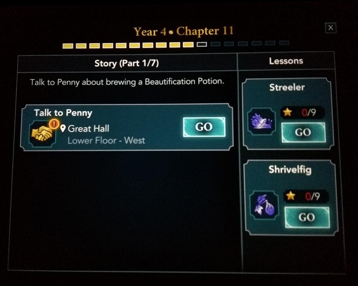 Hogwarts Mystery Year 4 Chapter 11 Screenshot