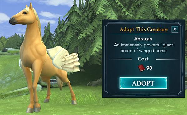 hogwarts mystery abraxan adoption available